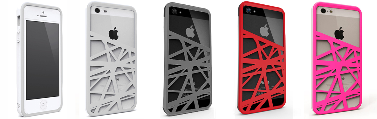 4 color variations of CrossWay iPhone 5 wallet case