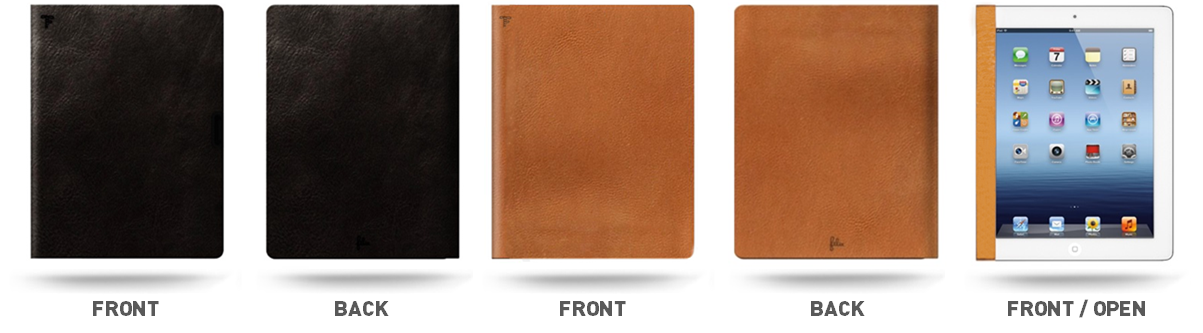 3 Sleek designs available for Felix's FlipBook iPad cases