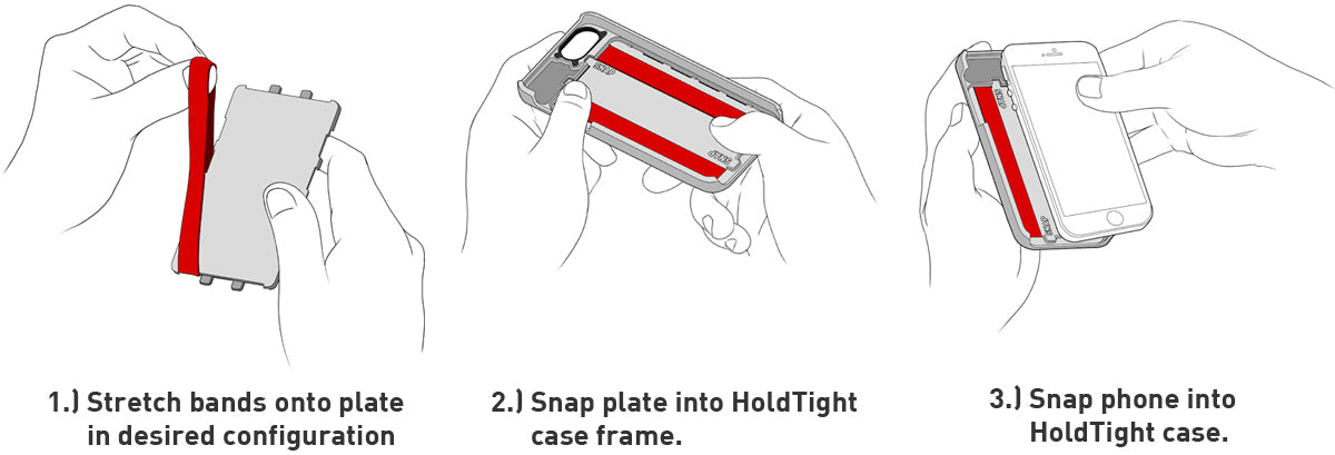 HoldTight bands iPhone 5 cases installation instructions