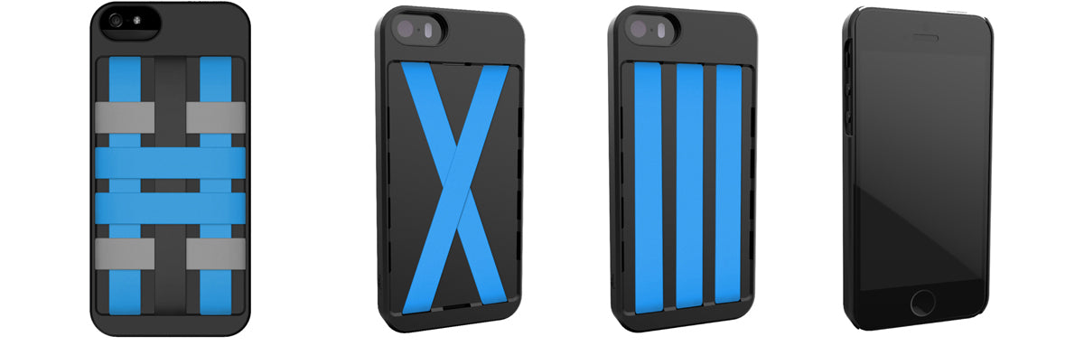 Blue HoldTight iPhone Case
