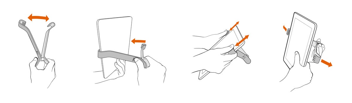 Instructions for using TwoHands iPad Holders