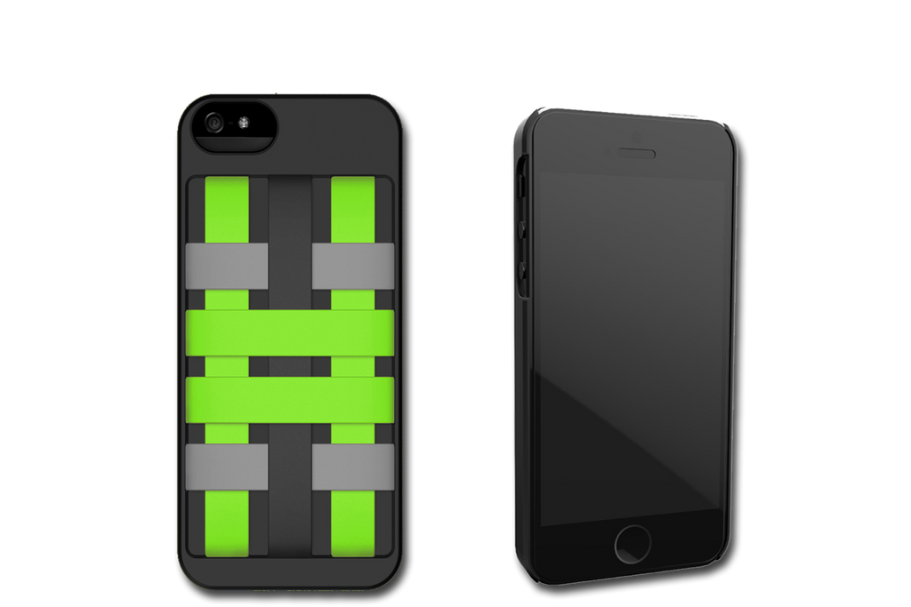 Black-Green HoldTight iPhone 5 Case by Felix