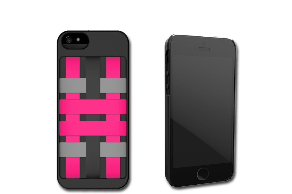 Black-Pink HoldTight iPhone 5 Case by Felix