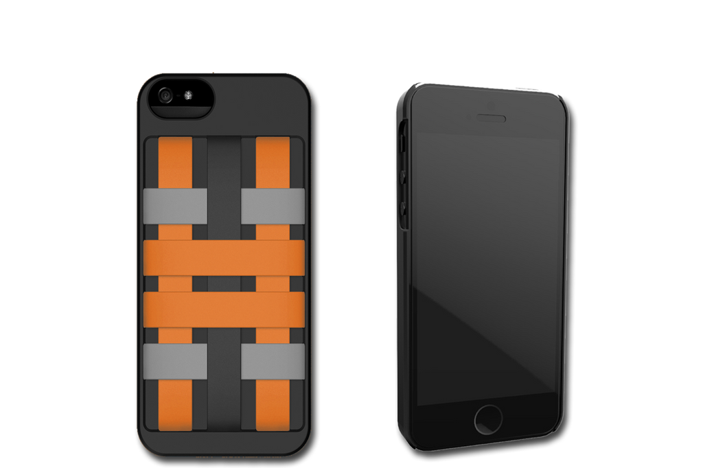 Black-Orange HoldTight iPhone 6 Case by Felix