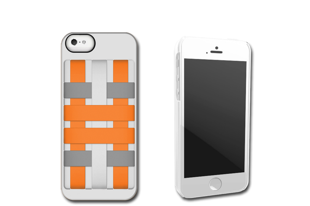 White-Orange HoldTight iPhone 5 Case by Felix