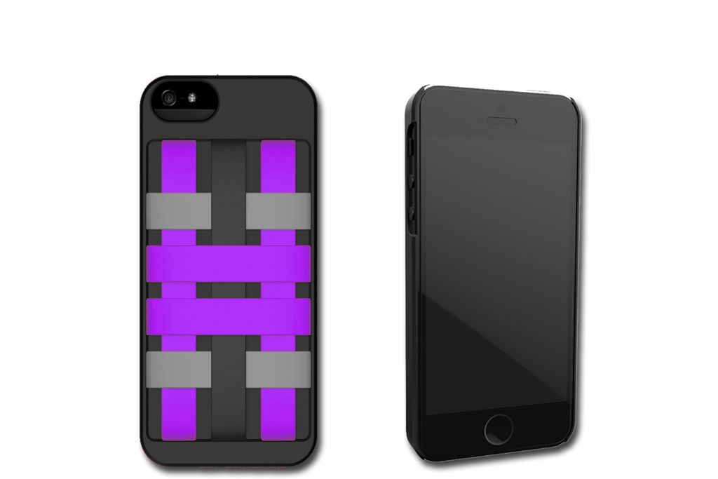 Black-Purple HoldTight iPhone 5 Case by Felix