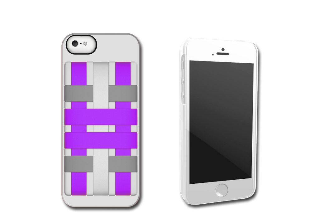 White-Purple HoldTight iPhone 5 Case by Felix
