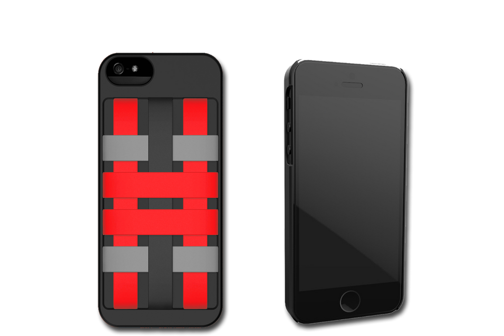 Black-Red HoldTight iPhone 6 Case by Felix