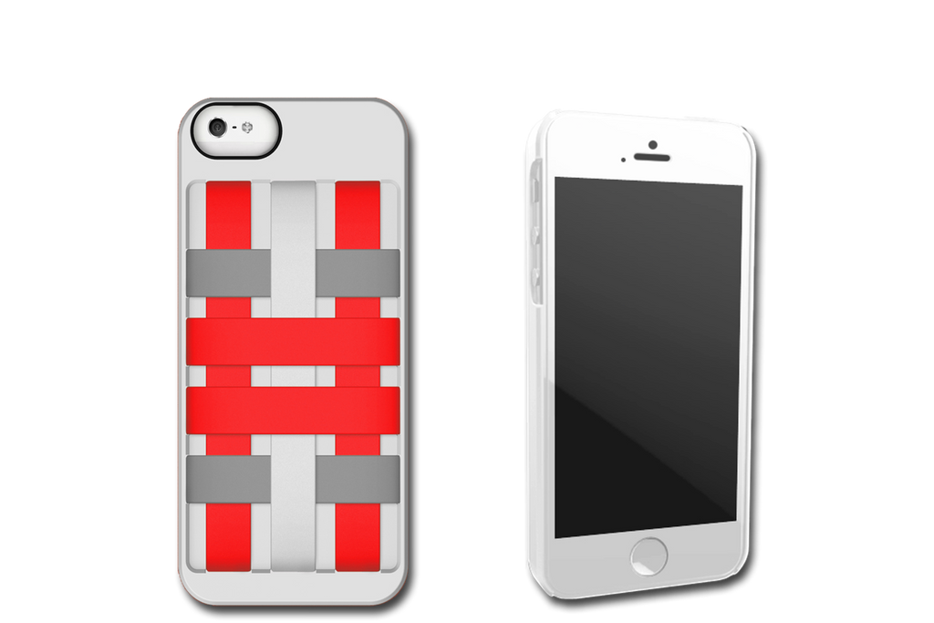 White-Red HoldTight iPhone 6 Case by Felix