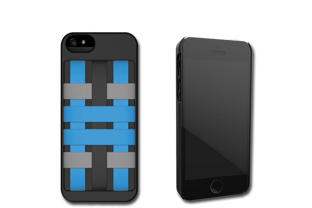 Black-Blue HoldTight iPhone 5 Case by Felix