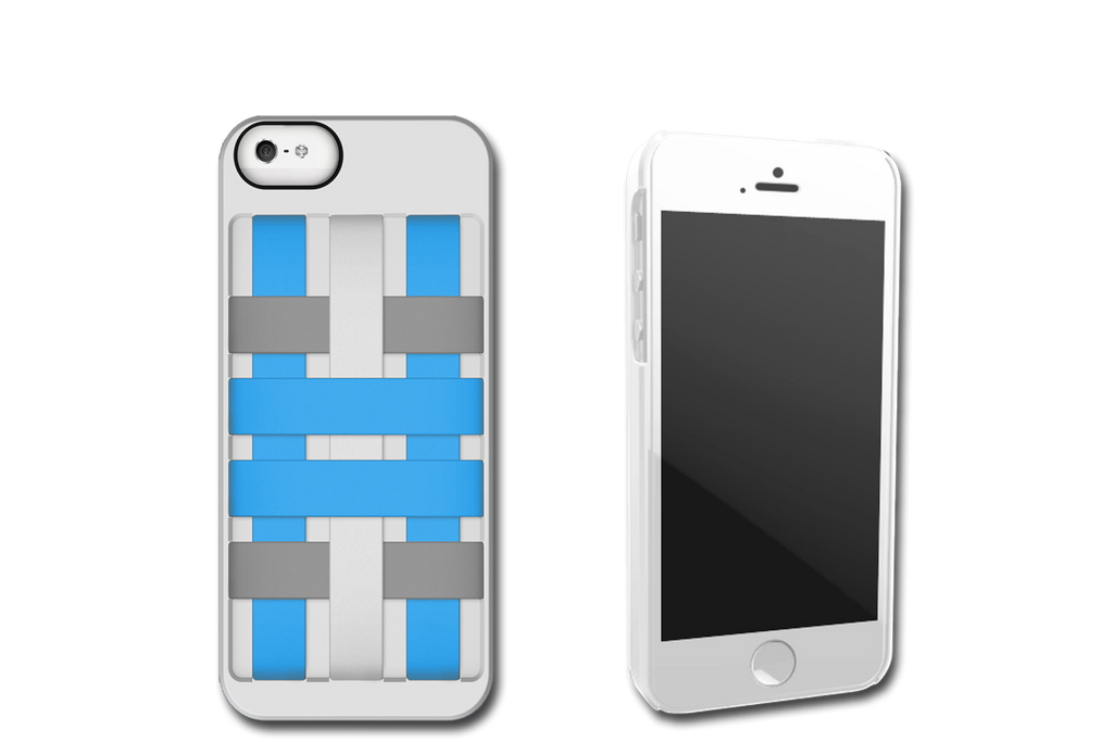 White-Blue HoldTight iPhone 5 Case by Felix