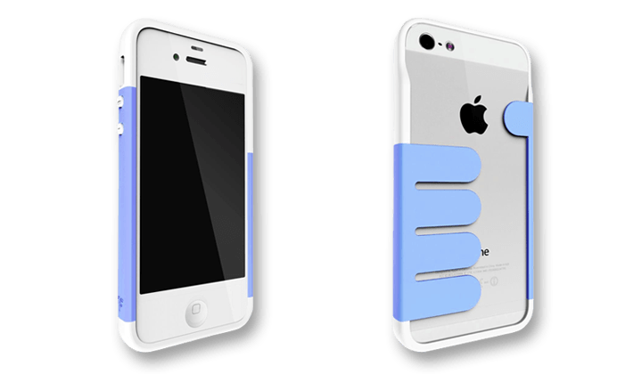 Blue-White HandHold iPhone 5 Wallet Cases by Felix