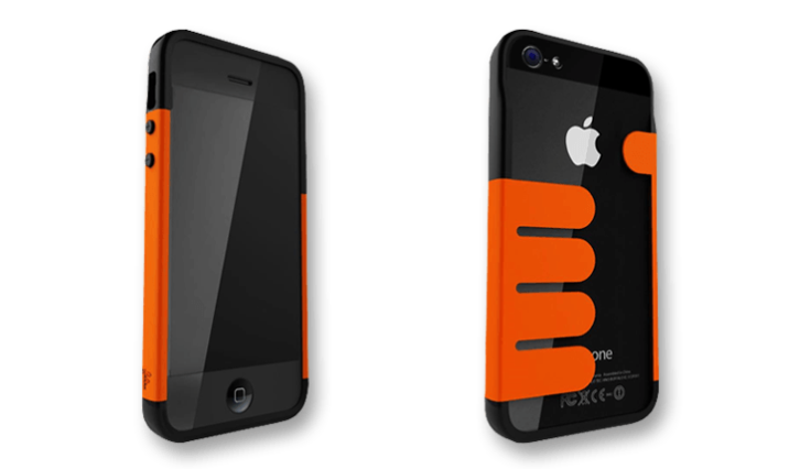 Orange-Black HandHold iPhone 5 Wallet Cases by Felix