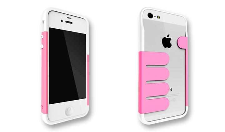 Pink-White HandHold Felix iPhone 5 Wallet Cases