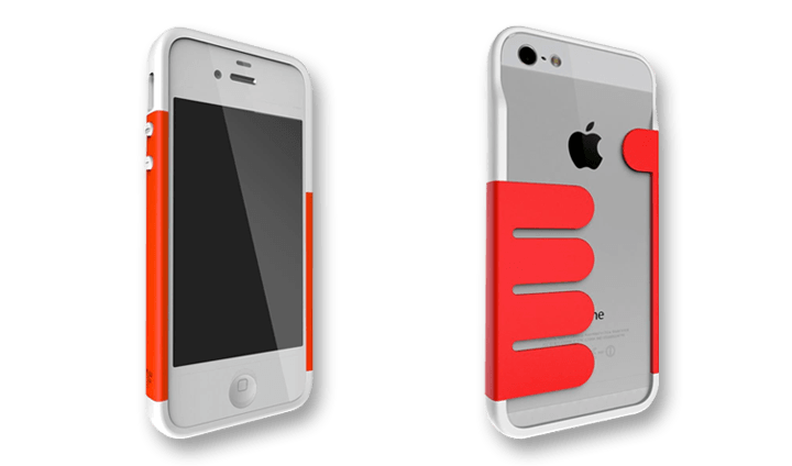 Red-White HandHold iPhone 5 Wallet Cases by Felix