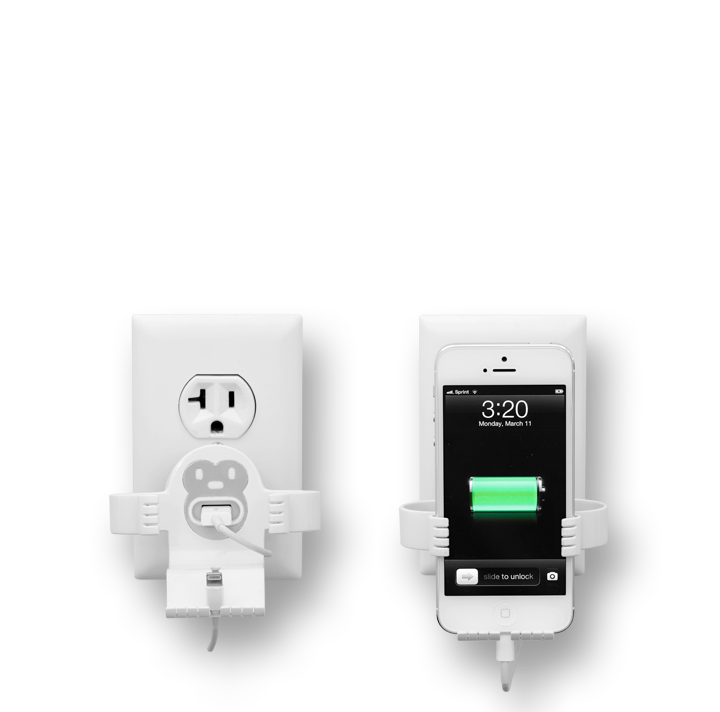 White-White MonkeyOh iPhone Charger Stand by Felix
