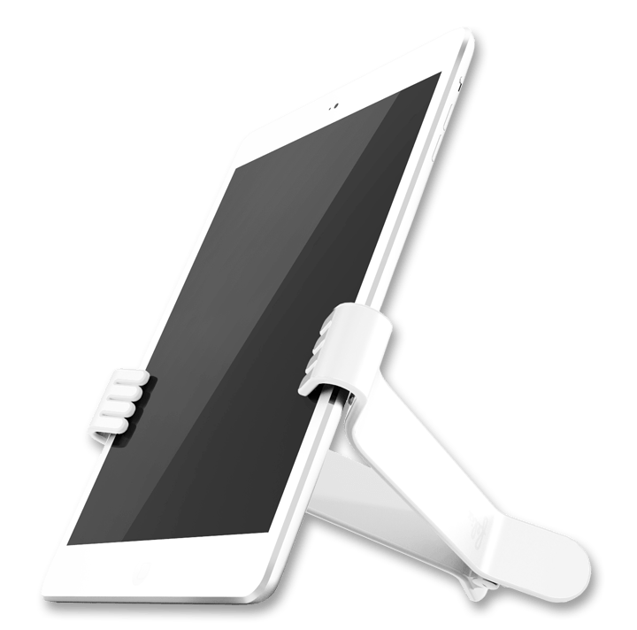 White TwoHands iPad Clamp by Felix