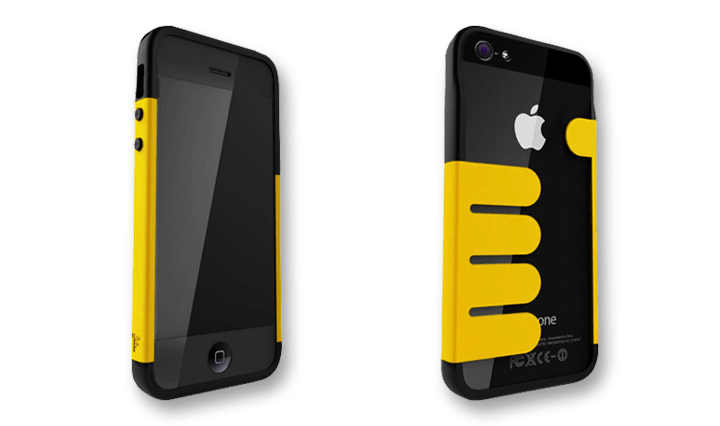 Yellow-Black HandHold Felix iPhone 5 Wallet Cases