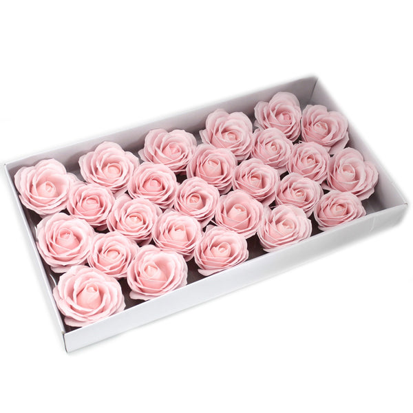 Soap Flowers ~ Craft Pack of 10 Large Roses ~ 8 Colour Options
