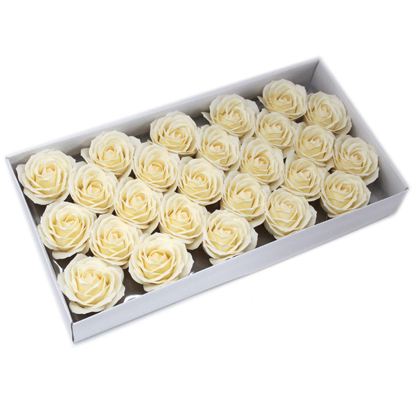 Soap Flowers ~ Craft Pack of 10 Large Roses ~ 7 Colour Options