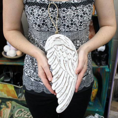 Angel Wing - Large 30cm ~ with Blackboard.  Made from sustainable wood.