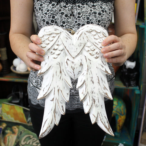 Angel Wings - 31cm ~ with Blackboard.  Made from sustainable wood ~ Sold out