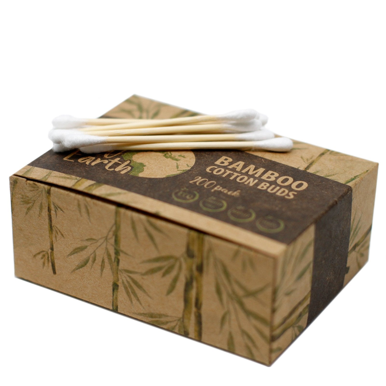 Bamboo Cotton Buds.  Box of 200 .