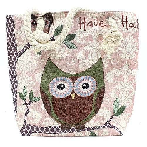 Rope Handle Bag - Have a Hoot (Owl) ~ Sold out