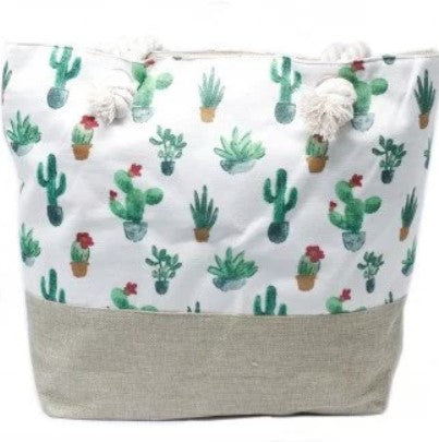 Rope Handle Bag - Mini Cactus