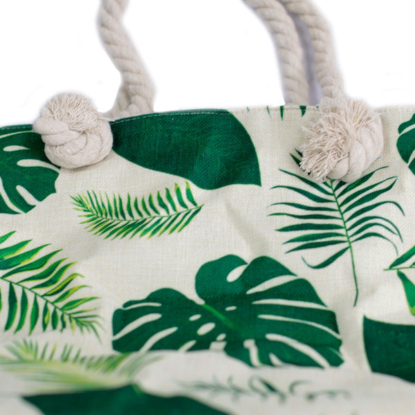 Rope Handle Bag - Tropical Greens