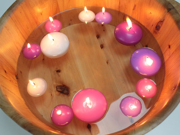 Pack of 10 Small Floating Candles ~ Burn time 3 hours ~ 4 Colour Choices