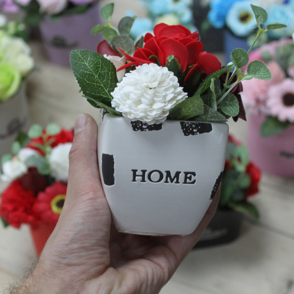 Soap Flower Bouquet ~ Petite Flower Pot ~ 4 Colour options