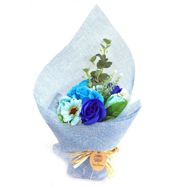Soap Flower Standing Bouquet - 5 Colour Choices **Currently only available in Blue or Orange**