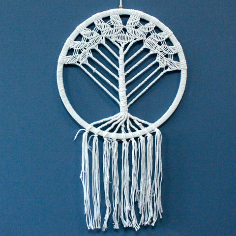Hand Made Tree of Life Macrame Dreamcatcher - Huge Diameter 42 cm Length 95 cm
