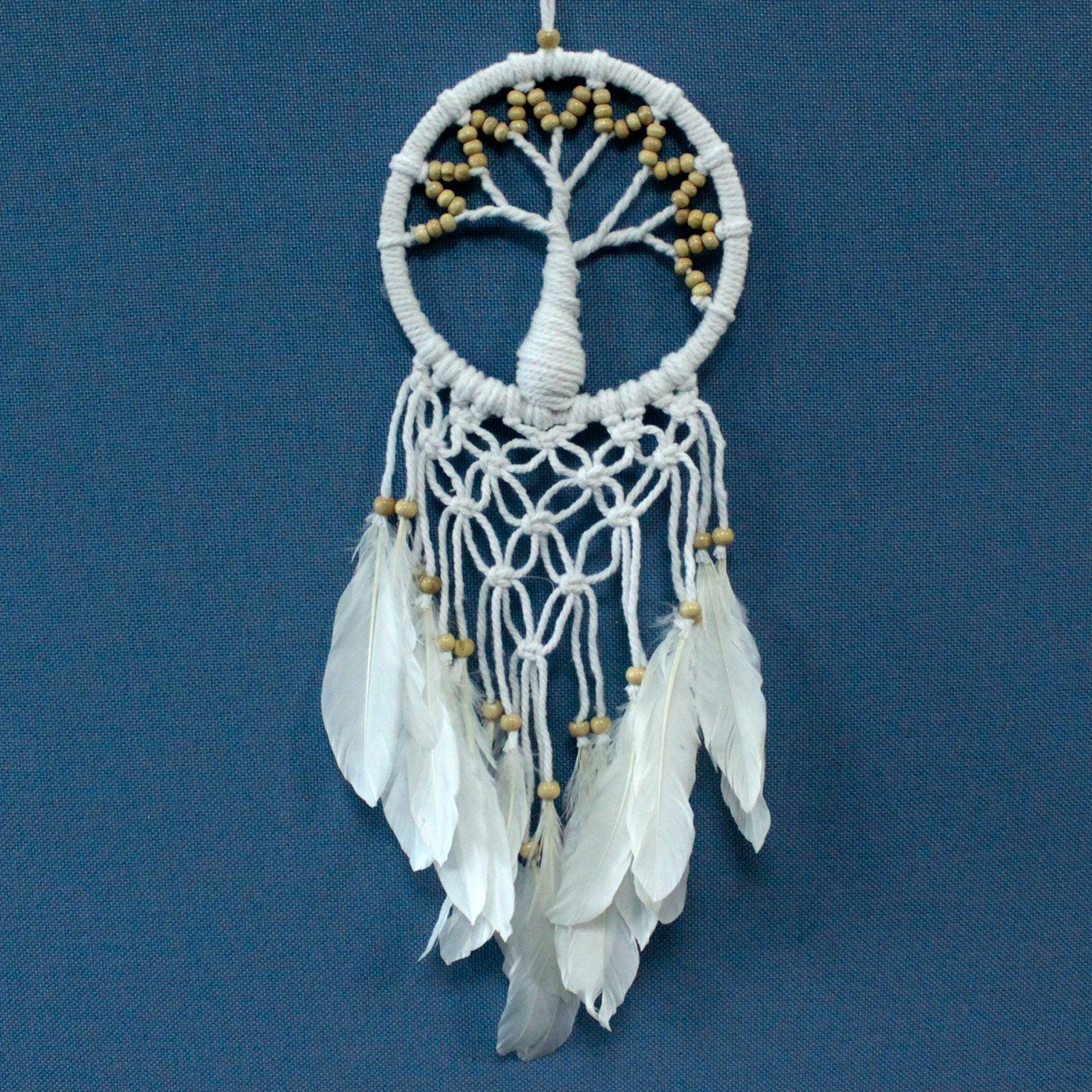 Hand Made Tree of Life Macrame Dreamcatcher - Diameter 16cm, Length 60cm