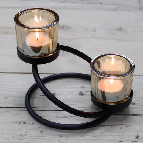 Candle (Votive/tealight) Holder  Centrepiece. Iron & Glass