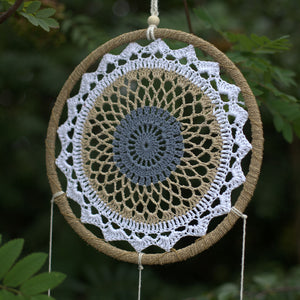 Dream Catcher - Large, Brown Elemental Spirits - Vegan Friendly.