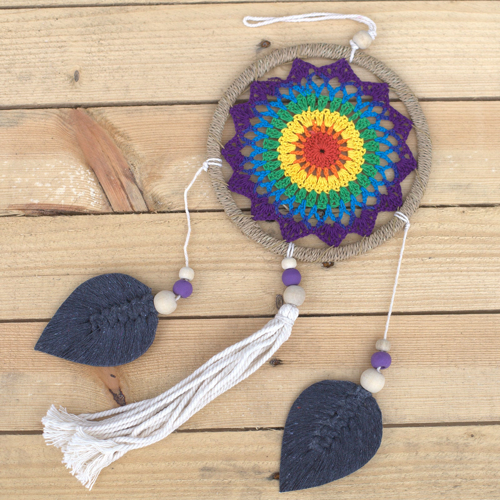 Dream Catcher - Medium, Rainbow Elemental Spirits - Vegan Friendly.