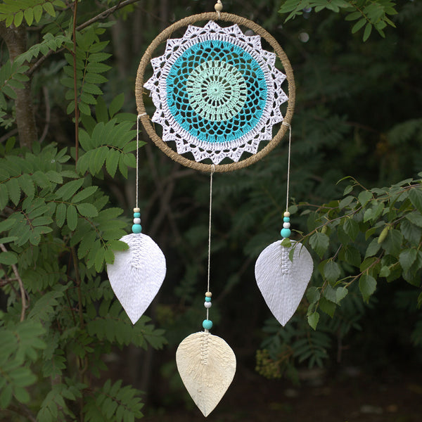 Dream Catcher - Large,Turquoise Elemental Spirits - Vegan Friendly.
