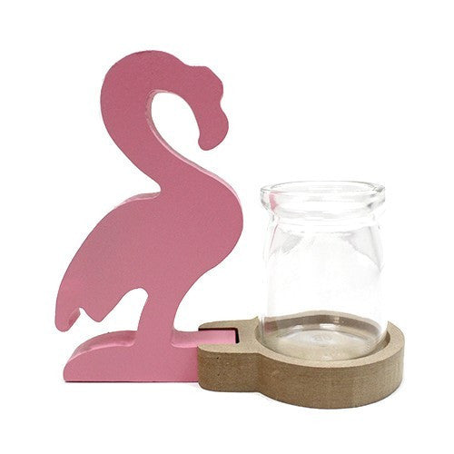 Hydroponic Pot (Vase) - Pink Flamingo - Recycled materials.