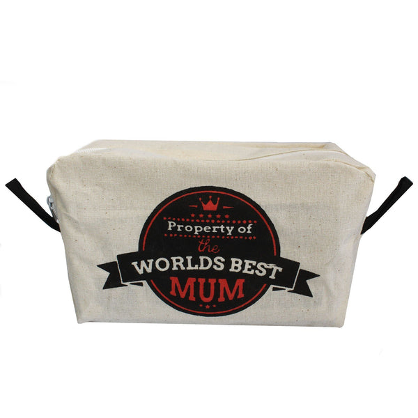 Organic Cotton Toiletry Bag ~ Worlds Best Mum