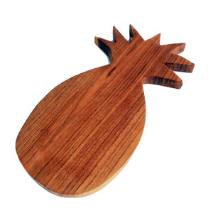 Teak Hand Carved Chopping Board ~ Pineapple Shaped ~ approx 30 cm