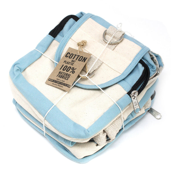 "Natural Cotton Cross Body Travel Bag ~ Only the ""Olive"" Colour Option is Currently Available"