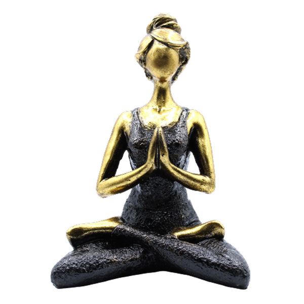 Yoga Lady Figure - 24cm ~  Choose from 6 Colour Variations