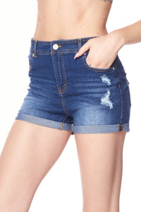 Curve Me up Denim Shorts A22