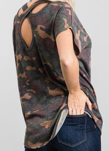 Open Back Camo Top A2