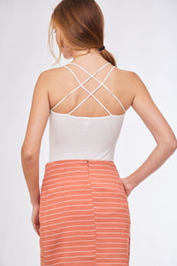 Criss-Crossed Back Tank Top