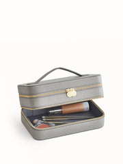 LUXE VEGAN LEATHER MAKEUP CASE