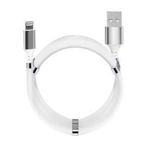 Magnetic Fidget Cable Pearl White USB - Lightning 1.8 m (6 ft) For Apple