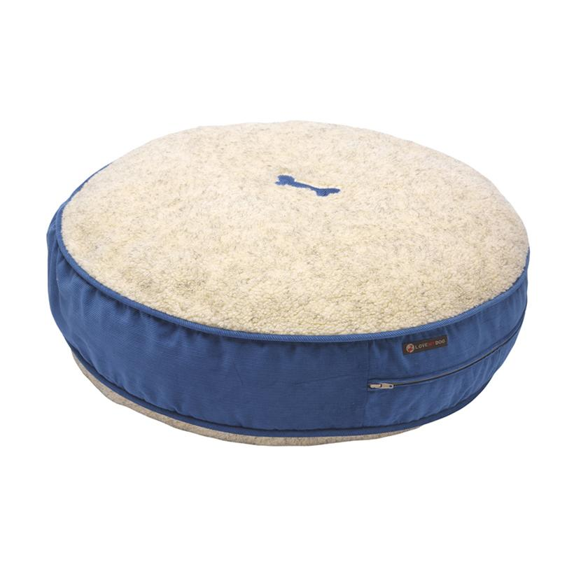 Bradbury Blue Corduroy Dog Bed - LISH Dog Luxury Fashion and Accessories